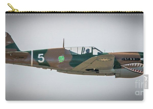 Carry-all Pouch featuring the photograph P-40 Warhawk by Tom Claud