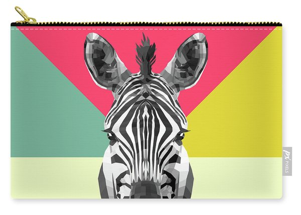 Party Zebra  Carry-all Pouch