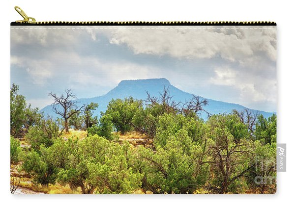 Carry-all Pouch featuring the photograph Pedernal by Susan Warren