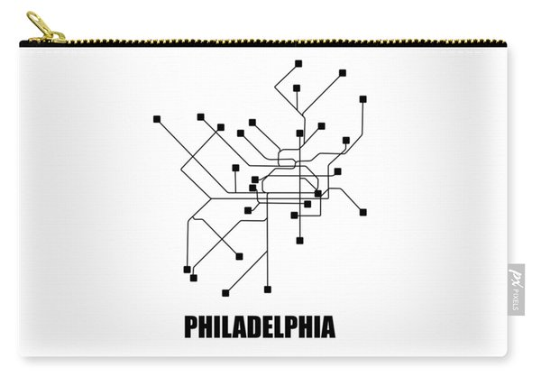 Philadelphia White Subway Map Carry-all Pouch