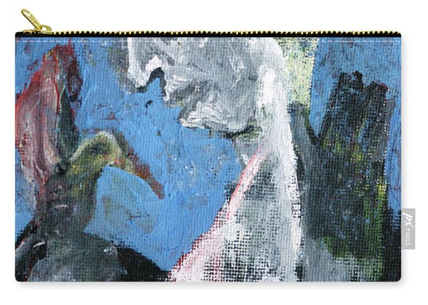 Portrait With A Bird Carry-all Pouch