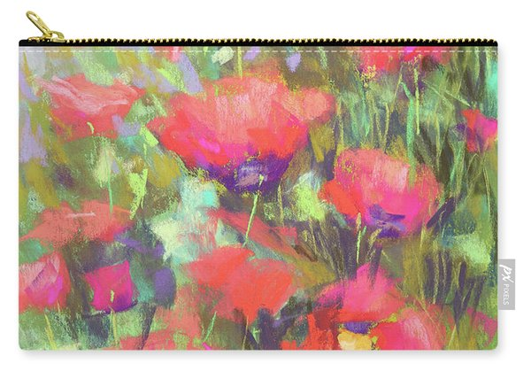 Praising Poppies Carry-all Pouch