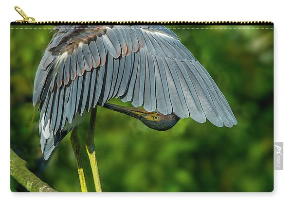 Preening Reddish Heron Carry-all Pouch