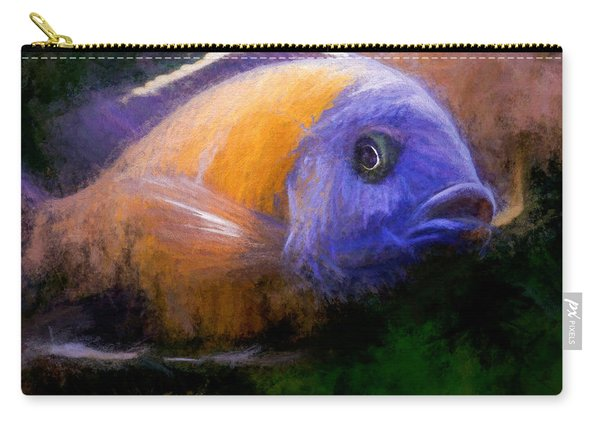 Carry-all Pouch featuring the digital art Red Fin Borleyi Cichlid by Don Northup