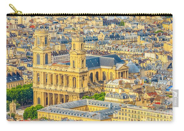Carry-all Pouch featuring the photograph Saint Sulpice Church Paris by Benny Marty