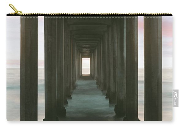 Scripps Pier Into The Pacific Ocean, La Carry-all Pouch