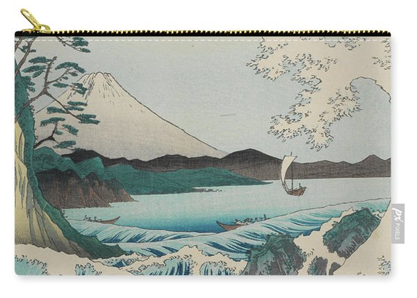 Seascape In Suruga, 19th Century Carry-all Pouch
