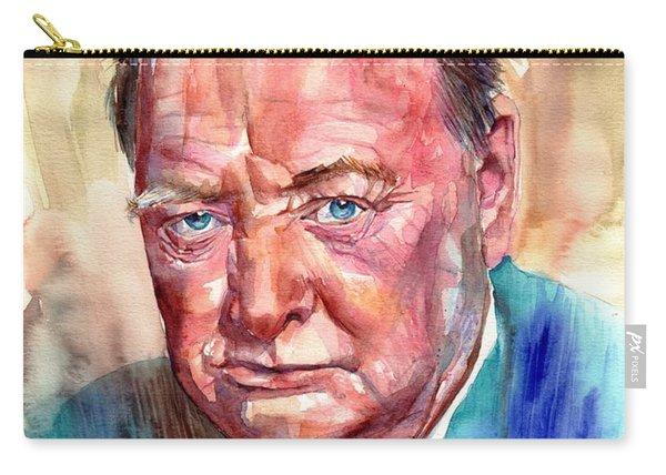 Sir Winston Churchill Portrait Carry-all Pouch