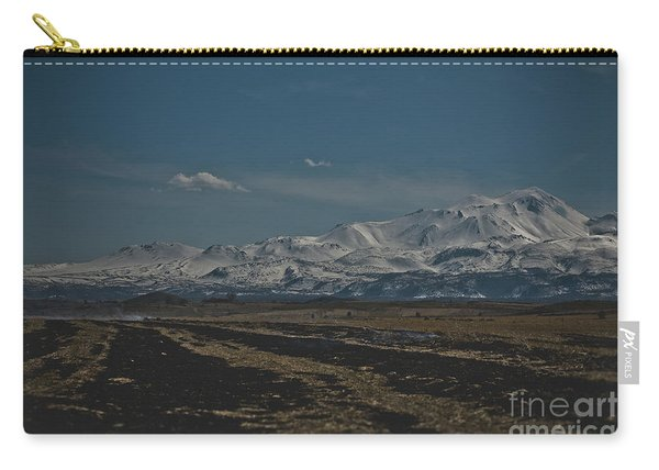 Snow-covered Mountains In The Turkish Region Of Capaddocia. Carry-all Pouch