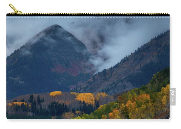 Carry-all Pouch featuring the photograph Stormy Weather Over The Elks by John De Bord