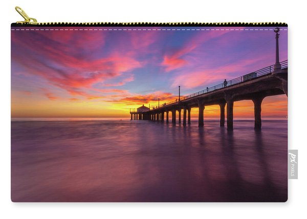 Stunning Sunset At Manhattan Beach Pier Carry-all Pouch