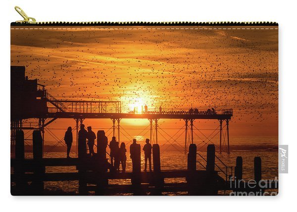 Sunset And Starlings In Aberystwyth Carry-all Pouch