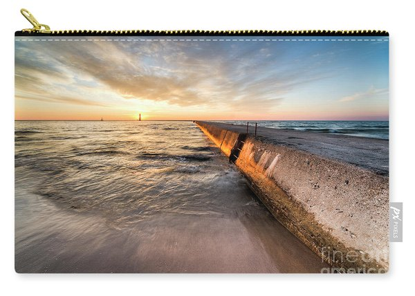 Sunset From The Beach In Frankfort Carry-all Pouch