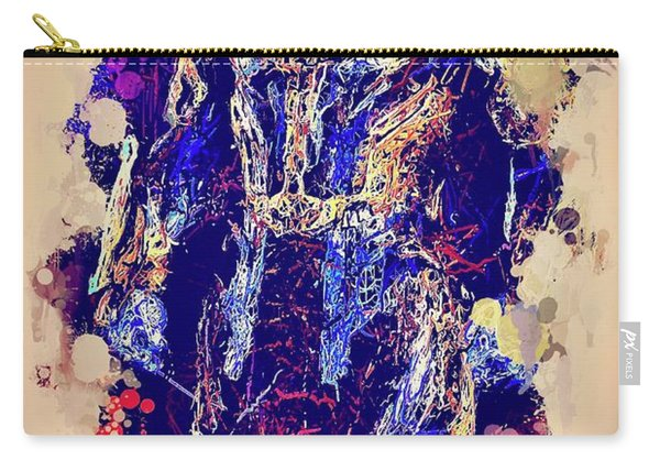Carry-all Pouch featuring the mixed media Thanos Watercolor by Al Matra