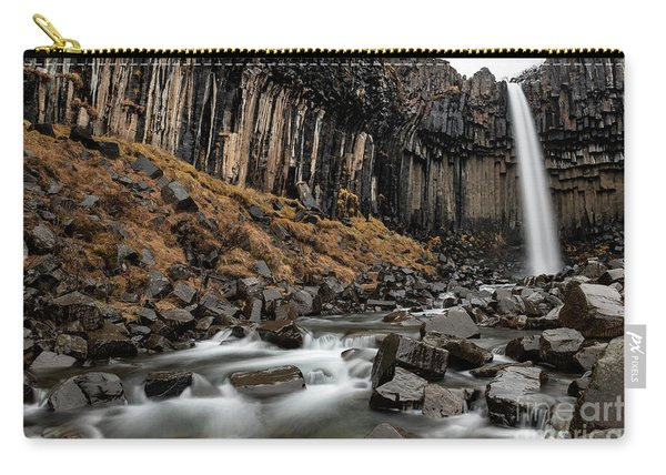 The Famous And Unique Svartifoss In Iceland. Carry-all Pouch