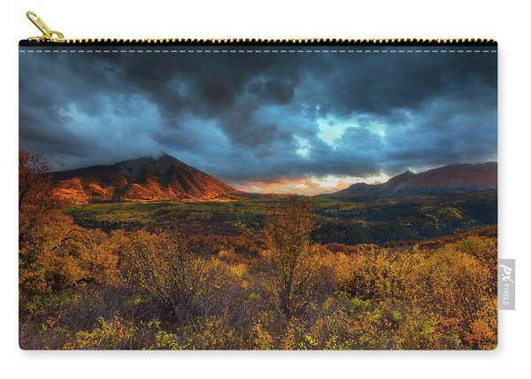 Carry-all Pouch featuring the photograph The Last Light by John De Bord