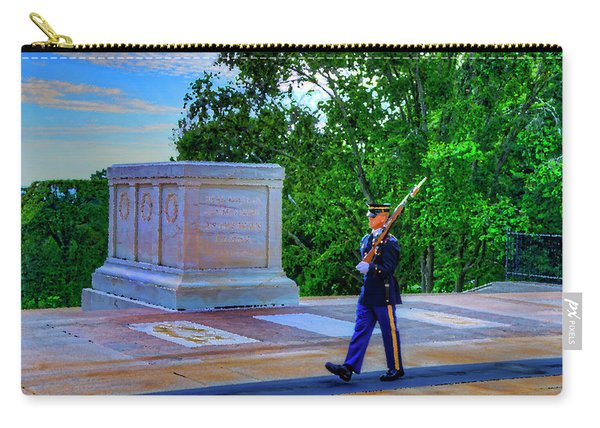 Tomb Of The Unknown Soldier Painting Carry-all Pouch