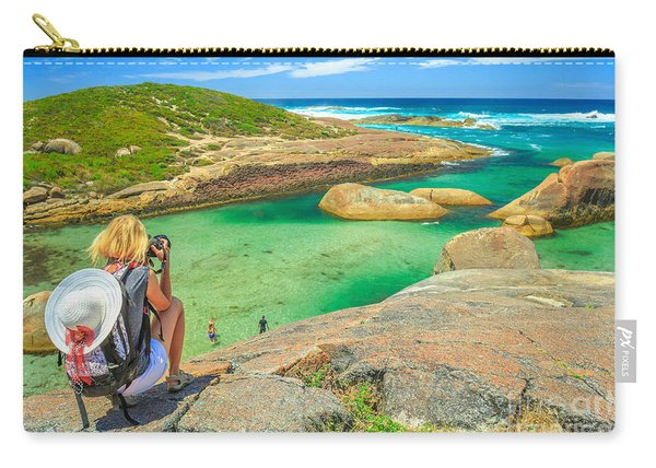 Carry-all Pouch featuring the photograph Travel Photographer In Australia by Benny Marty