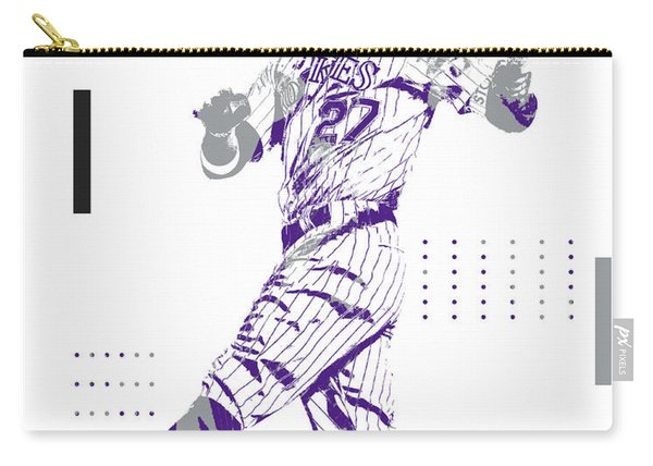 Trevor Story Colorado Rockies Pixel Art 11 Carry-all Pouch