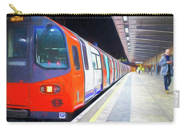 London Underground Train At Station Carry-all Pouch