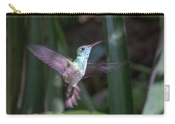 Versicolored Emerald Hummingbird Hovers Carry-all Pouch