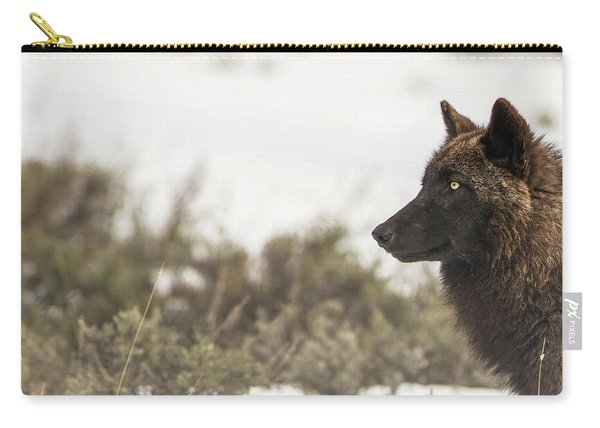 Carry-all Pouch featuring the photograph W15 by Joshua Able's Wildlife