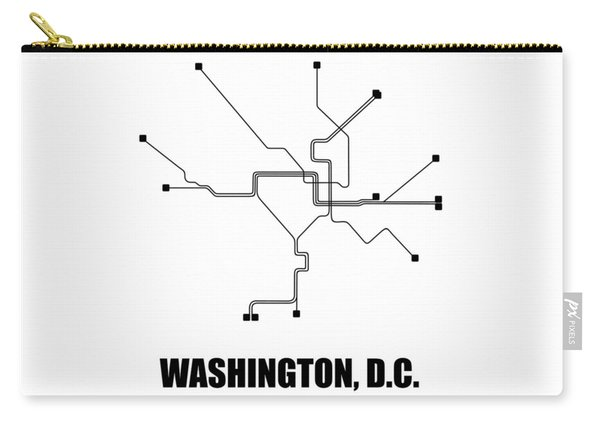 Washington, D.c. White Subway Map Carry-all Pouch