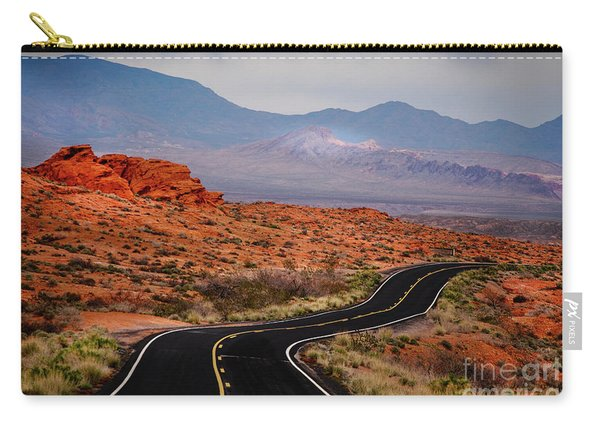 Winding Road In Valley Of Fire Carry-all Pouch