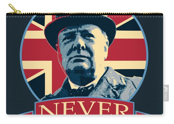 Winston Churchill Never Surrender Carry-all Pouch