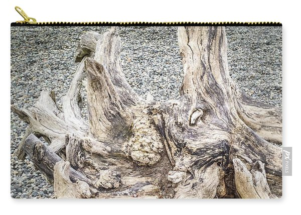 Carry-all Pouch featuring the photograph Wood Log In Nature No.35 by Juan Contreras
