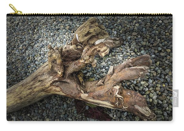 Carry-all Pouch featuring the photograph Wood Log In Nature No.39 by Juan Contreras