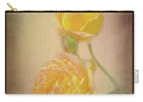 Carry-all Pouch featuring the photograph Yellow Roses by Susan Leonard