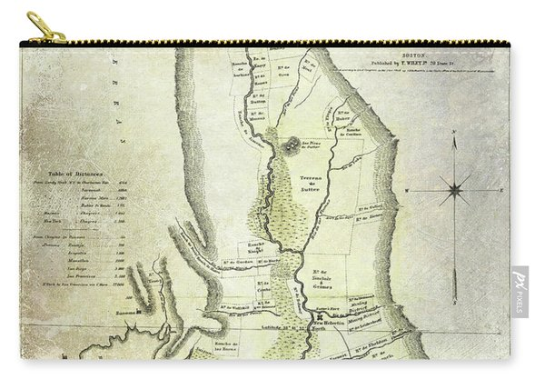1848 California Gold Country Map Carry-all Pouch