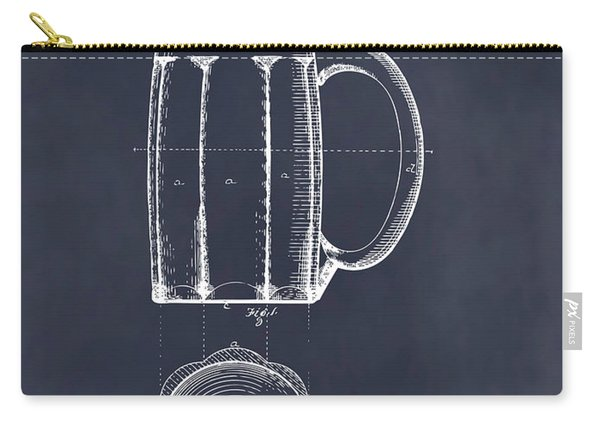 1876 Beer Mug Patent Print Blackboard Carry-all Pouch