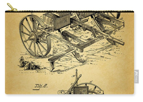 1885 Corn Planter And Plow Carry-all Pouch