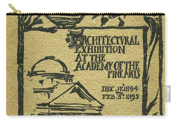1894-95 Catalogue Of The Architectural Exhibition At The Pennsylvania Academy Of The Fine Arts Carry-all Pouch