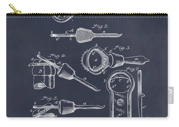 1894 Bottle Cap Opener Blackboard Patent Print Carry-all Pouch