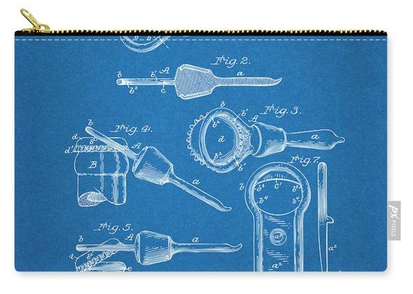 1894 Bottle Cap Opener Blueprint Patent Print Carry-all Pouch