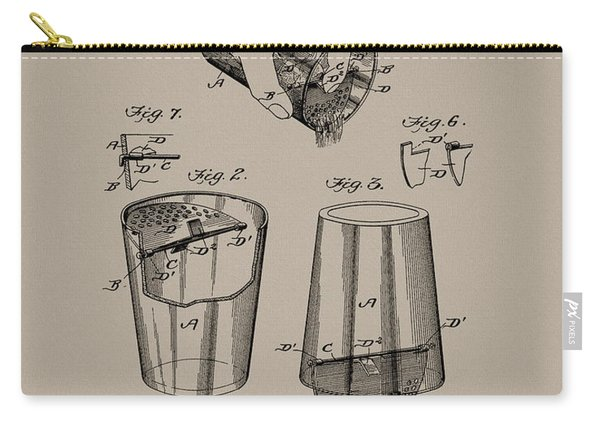 1903 Drink Mixer Patent Carry-all Pouch