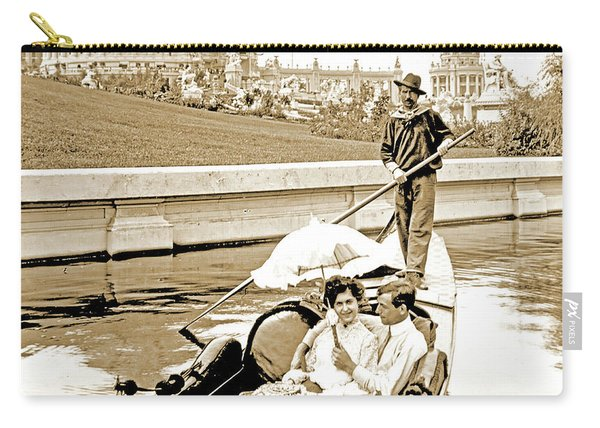 1904 Worlds Fair, Sighteeing Boat, Oarsman And Couple Carry-all Pouch
