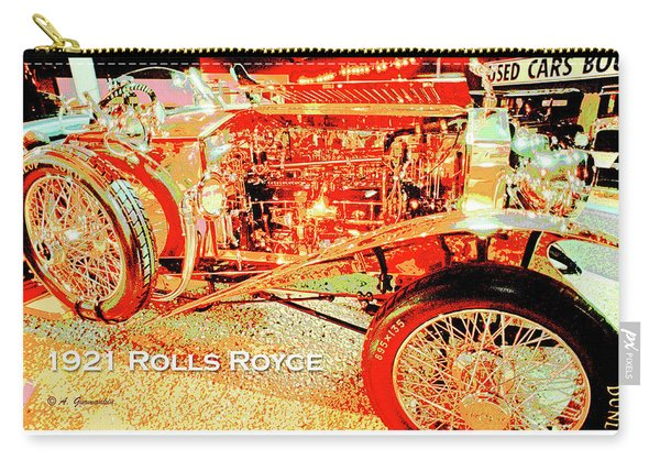 1921 Rolls Royce Classic Automobile Carry-all Pouch
