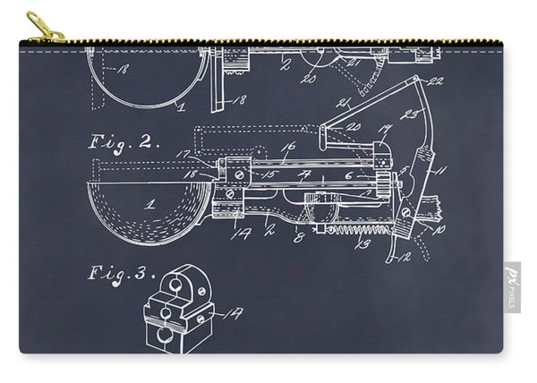 1924 Ice Cream Scoop Blackboard Patent Print Carry-all Pouch