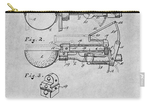 1924 Ice Cream Scoop Patent Print Gray Carry-all Pouch