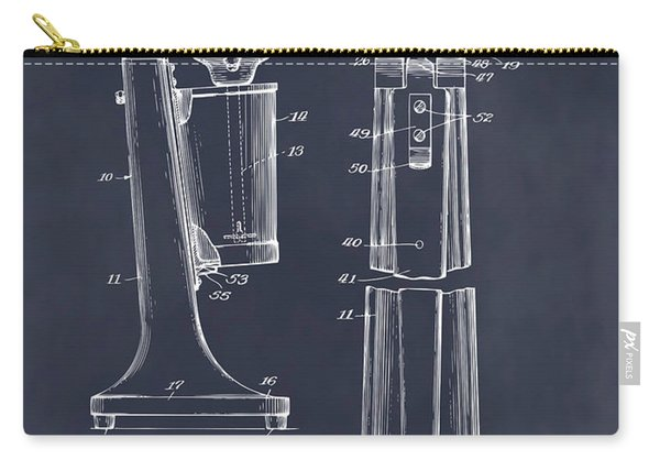 1929 Soda Fountain Drink Mixer Patent Print Blackboard Carry-all Pouch