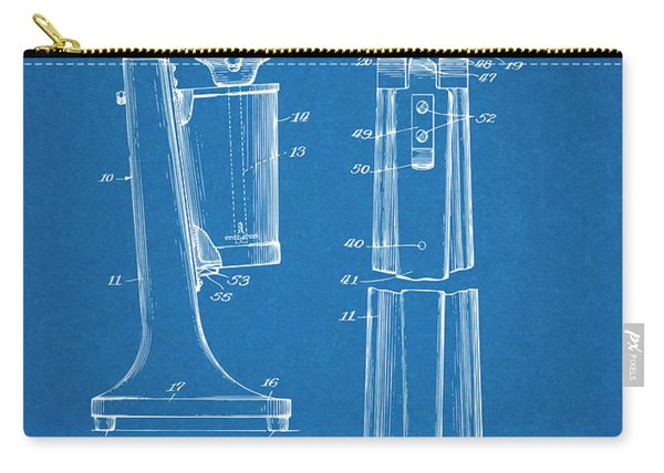 1929 Soda Fountain Drink Mixer Patent Print Blueprint Carry-all Pouch