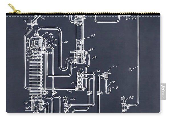 1937 Alcohol Still Spirits Distillation Blackboard Patent Print Carry-all Pouch