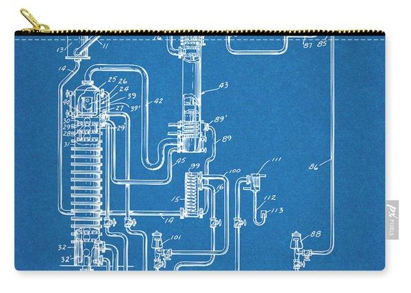 1937 Alcohol Still Spirits Distillation Blueprint Patent Print Carry-all Pouch