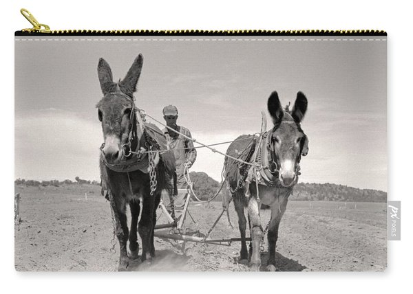1939  Plowing  New Mexico  Farming Carry-all Pouch