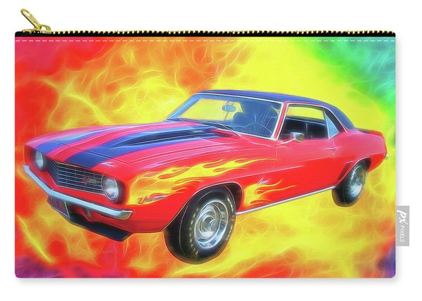 1969 Flaming Z Carry-all Pouch