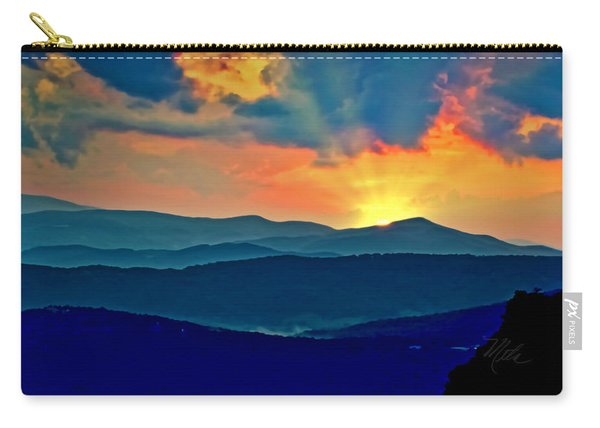 Blue Ridge Mountains Sunset Carry-all Pouch